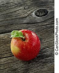 color, arriba, manzanas, plano de fondo, cierre, fresco, agradable, vista