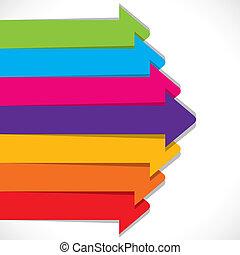 color arrow background