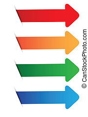 Color arrow blank tag