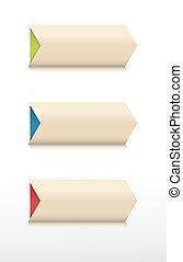 color arrow buttons