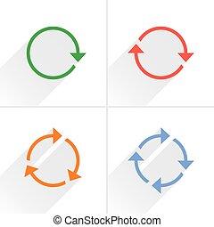 Color arrow loop, refresh, reload, rotation sign