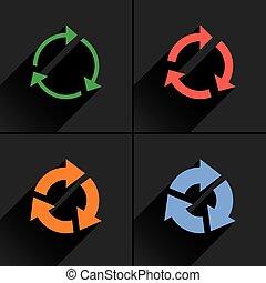 Color arrow reload, refresh, reset, repeat icon