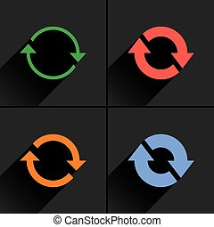Color arrow reload, rotation, reset, repeat icon