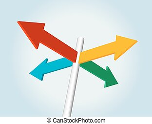 color arrow sign