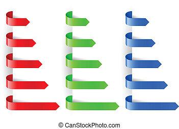 Color arrows marker paper. Illustration for design on white...