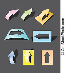 Color arrows stickers collection