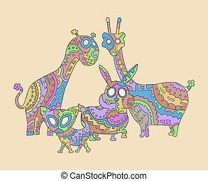 color art animals illustration