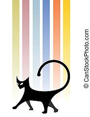 Color art cat