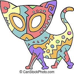 color art cat draw