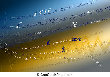 color artwork - background - currency sings