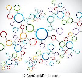 color atoms network connection diagram