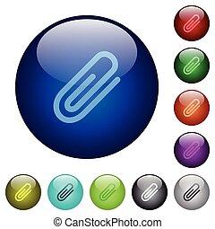 Color attachment glass buttons