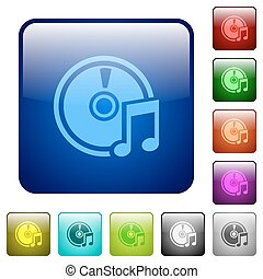 Color audio CD square buttons