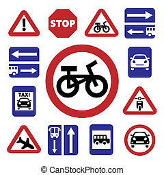 color auto traffic signs
