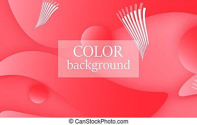 Color background. 3d design.