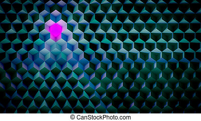 Color Background Made of Cubes - Its about thinking...