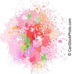 Color background of paint splashes