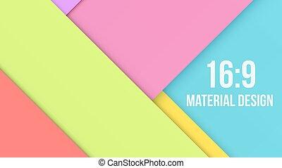 Color Background Unusual modern material design