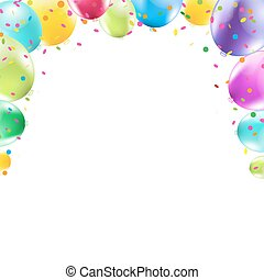 Color Balloons Frame