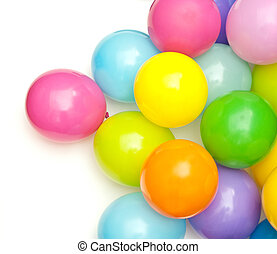 balloons - color balloons isolated on white
