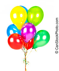 color balloons. party decoration