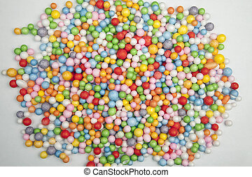 Color balls on a white