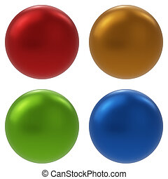 Color Balls Set Isolated on White Background