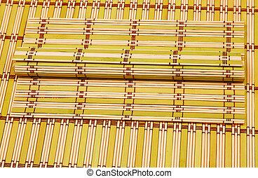 Color bamboo mat,  wood texture