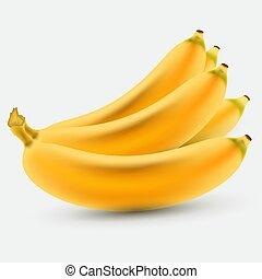 Color Banana fruit icon. Modern simple flat vegetarian sign. Eco food internet concept. Trendy yellow natural vector symbol for website design, web button, mobile app. Logo illustration.