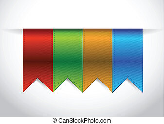 color banners illustration design over a white