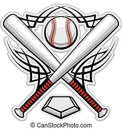 Color baseball emblem - Baseball emblem for sports design or...