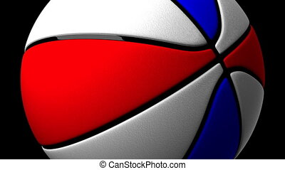 Color Basket Ball On Black Background - Loop able 3DCG...