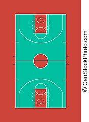 color basket court design