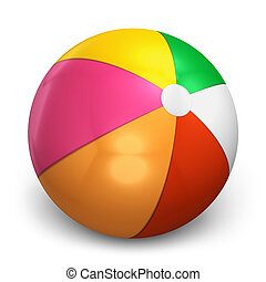 Color beach ball isolated on white background