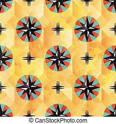 color beautiful abstract seamless pattern maritime symbols