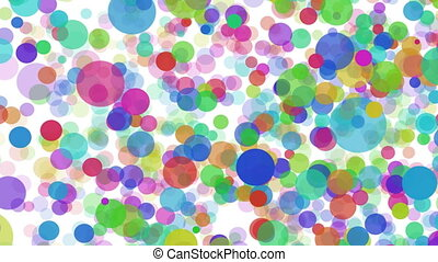 Color big and small balls on white background