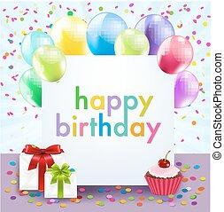 Color Birthday Card