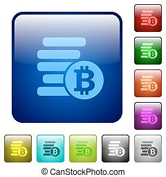 Color Bitcoins square buttons