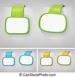 Color Blank Banner Display Template Set