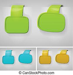 Color Blank Banner Display Template Set For Design Work