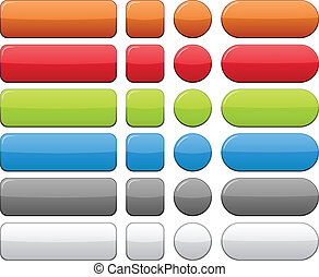 Color blank buttons. - Blank web color buttons. Vector.