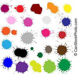 Color Blobs Stains Set - Big Set Color Blobs Stains,...