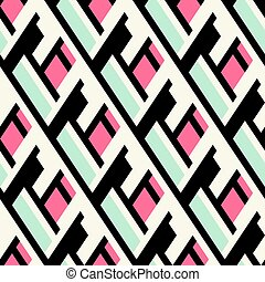 Color blocked bold pattern
