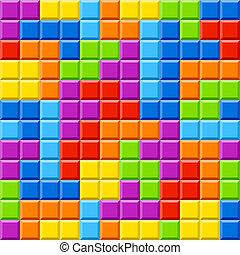 color, bloques, plano de fondo