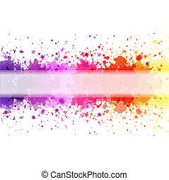 Color Blot Background