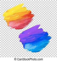 color, blots, conjunto