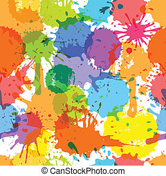 color, blots, seamless, plano de fondo, tinta