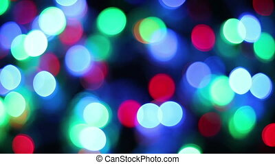 color bokeh of blinking christmas lights
