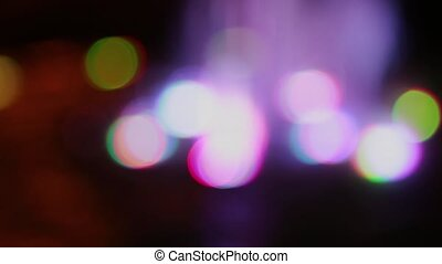Color bokeh with light movement of the camera, colors...