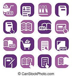 color books icons set